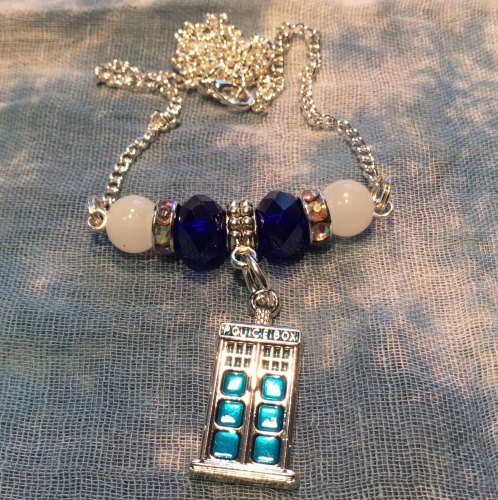 Dr Who Tardis Pendant Necklace