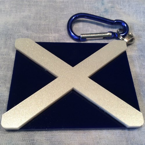 Saltire Bag Charm Fridge Magnet Scotland