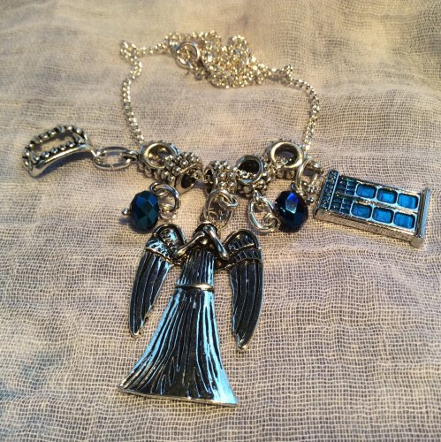 Dr Who Necklace Weeping Angel Fangs Tardis