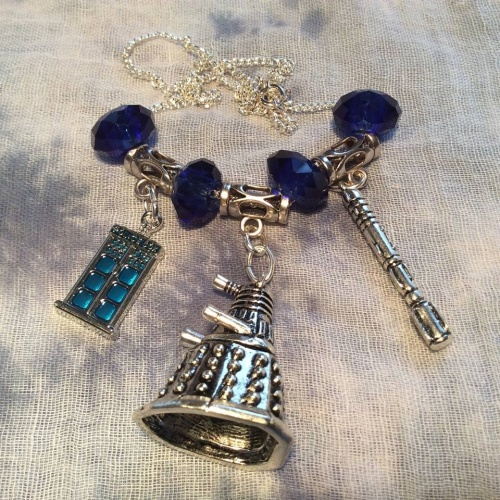 Dr Who Dalek Pendant Necklace Tardis Crystals