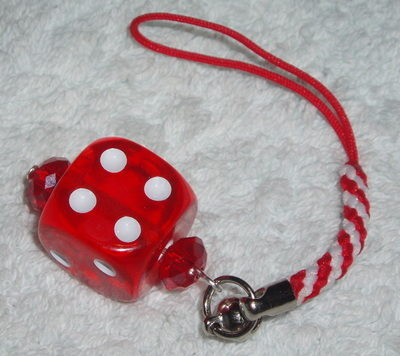 Dice Phone Charm Crystal Bead Rockabilly