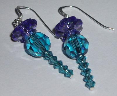 Thistle Charm Earrings Swarovski Ceilidh Wedding St Andrews