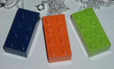 Lego Pendant 4x2 Brick Chain Geek Emo Kitsch Retro Swarovski