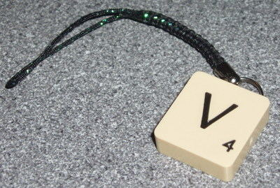 Scrabble Phone Charm Mobile All Letters Available J K Sparkly Lariat