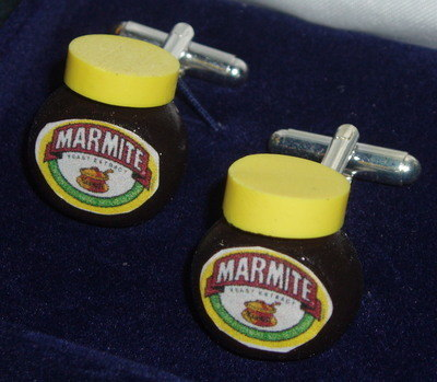 Marmite Jar Cufflinks Weddings Anniversaries Birthdays Gift