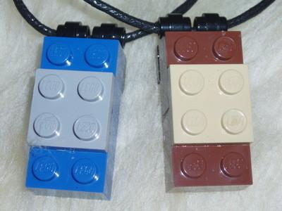 Lego Pendant 4x2 Brick 2x2 Plate Geek Emo Kitsch Retro Swarovski