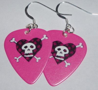 Guitar Pick Earrings Avril Lavigne Pink