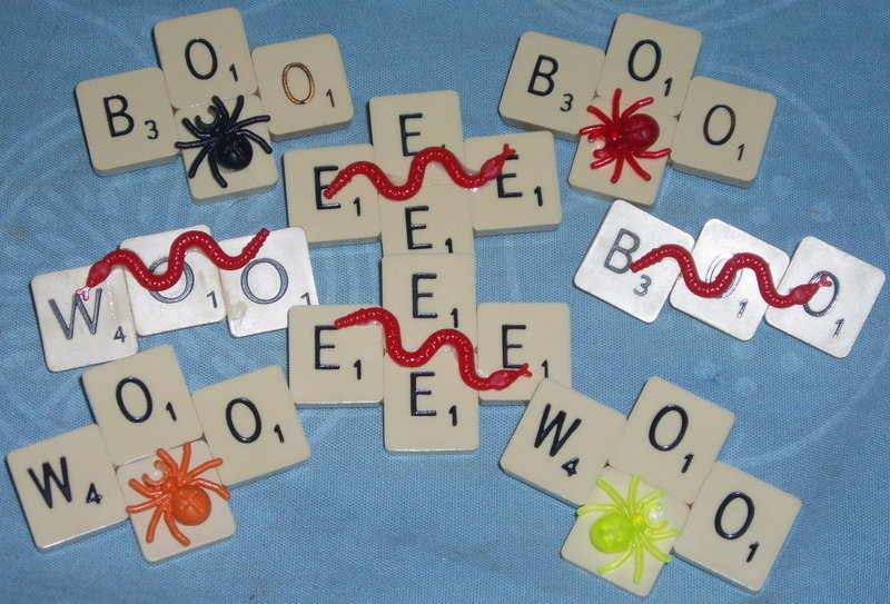 Scrabble brooches 1