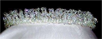 Tiara Sparkling Swarovski Crystal Princess Pearls