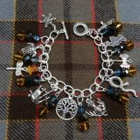 Outlander Inspired Charm Bracelet Handmade