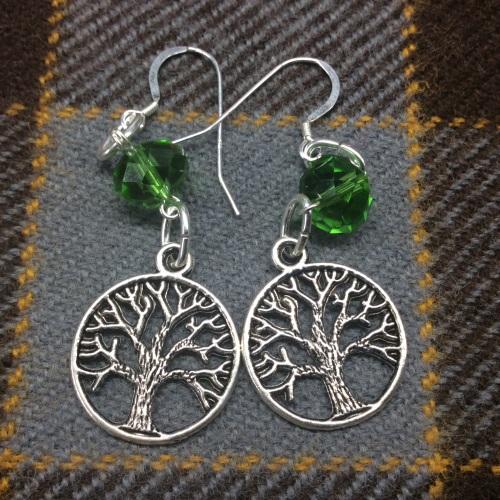 Outlander Inspired Tree of Life Earrings