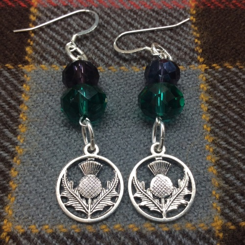 Outlander Inspired Scottish Thistle Earrings
