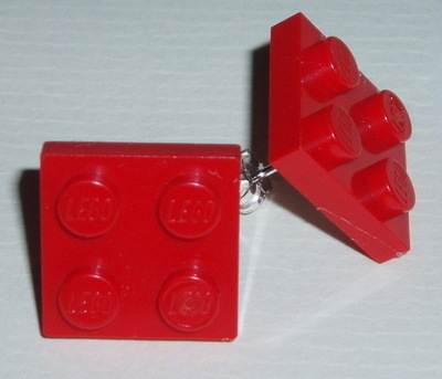 Lego Earrings 2x2 Plate Studs Sterling Geek Retro Swarovski