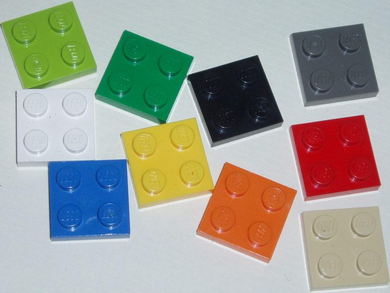 Lego plate colours