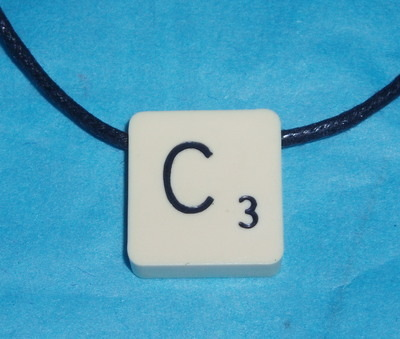 Scrabble Pendant Necklace Top Drilled Cord All Letters Personalised
