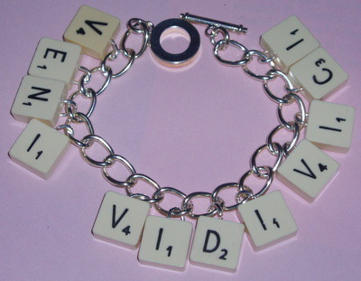 Travel Scrabble Charm Bracelet Name All Letters Available Crystal