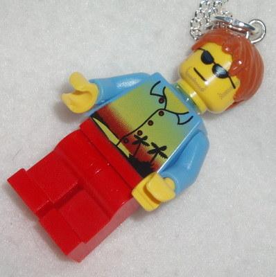 Lego MiniFigure Pendant Beach Boy