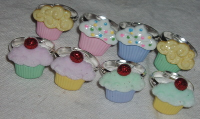 Cupcake Ring Childs Adjustable
