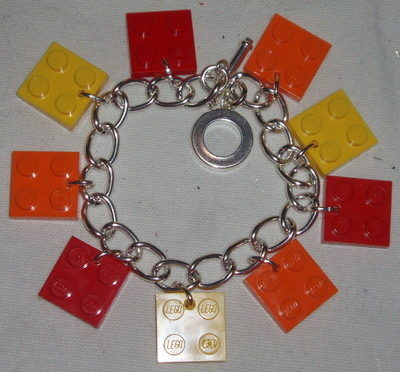 Lego Charm Bracelet 2x2 Plates Fun Funky