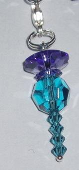 Thistle Charm Swarovski Crystal Handmade Sabo Links