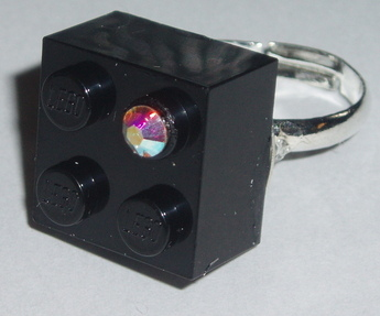 black lego ring