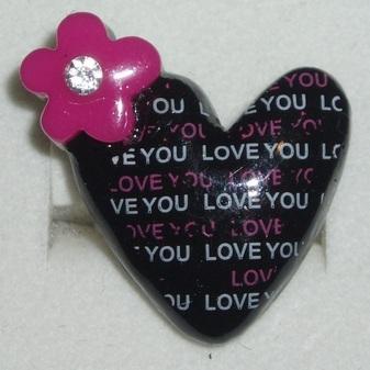I love you ring black