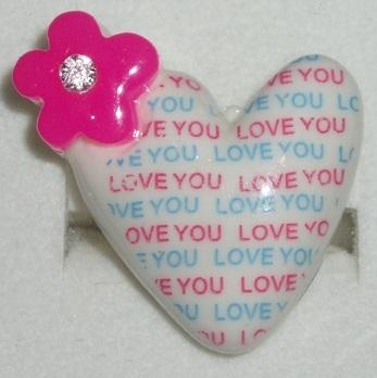I love you ring white