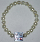 Lego Bracelet Pearl Stretch with 2x2 Lego Brick