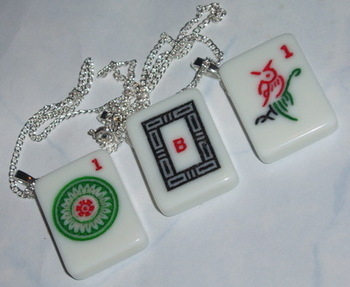 Mah Jong Pendant Mah Jongg Mahjong Winds Dragons Circles