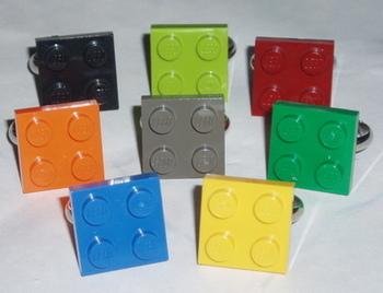 Lego Ring 2x2 Plate Geek Retro Swarovski