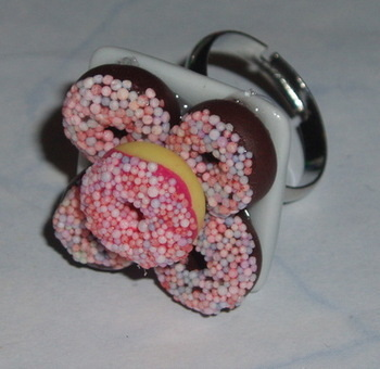 Donut Ring Candy Sprinkles Donuts Doughnut Plate Adjustable