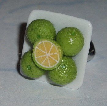 Lively Limes Ring Fimo Fruity Plate