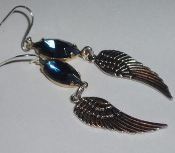 Vintage Rhinestone Earrings Wind Beneath My Wings