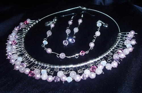 Wedding pink choker set