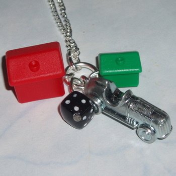 Monopoly Car Pendant Hotel House Black Dice