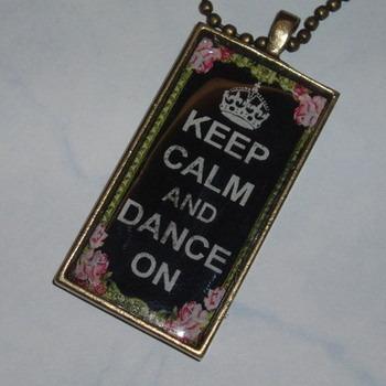 Keep Calm Pendant Dance On Roses Black Bow