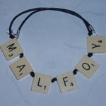 Scrabble Necklace Personalised Top Drilled Cord Letter Name Gok