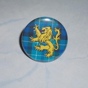 Lion Rampant Blue Tartan Ring