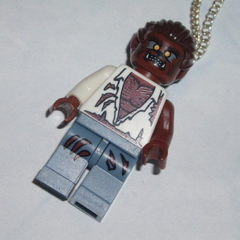 Lego MiniFigure Pendant Werewolf Halloween Monster Geek