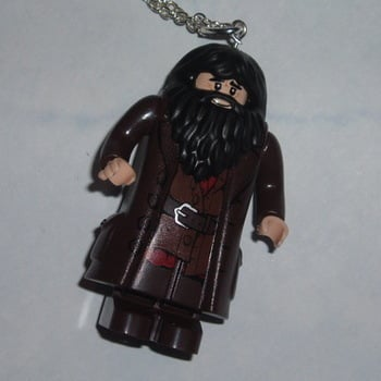 Lego MiniFigure Pendant Harry Potter Hagrid Geek