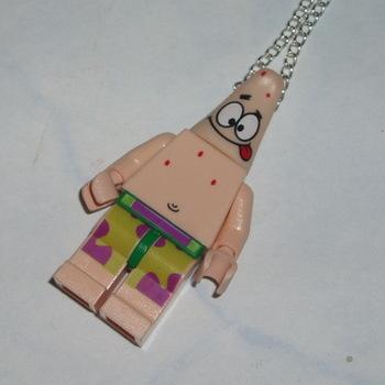 Lego MiniFigure Pendant SpongeBob Patrick Starfish Pink Geek
