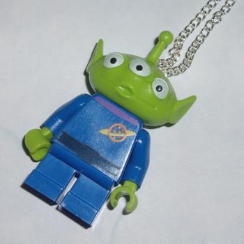 Lego MiniFigure Pendant Toy Story 3-eyed Alien