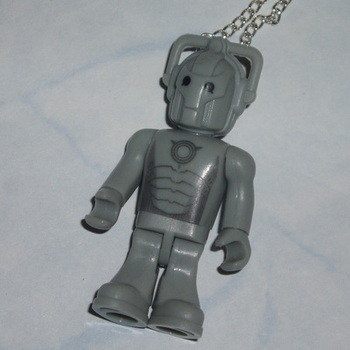 Dr Who Figure Pendant Cyberman Geek EMO Retro