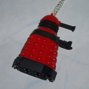 Dr Who Figure Pendant Dalek Red Drone Army Builder