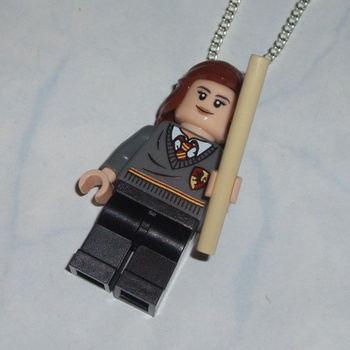 Lego MiniFigure Pendant Hermione Harry Potter Griffindor Wand