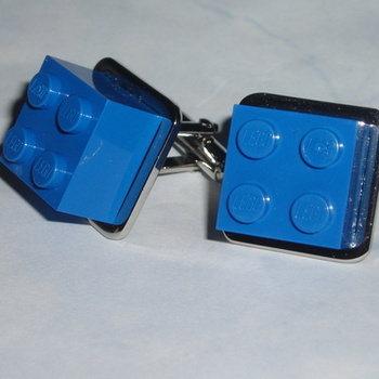 Lego Cufflinks 2x2 Lego Bricks Retro Swarovski