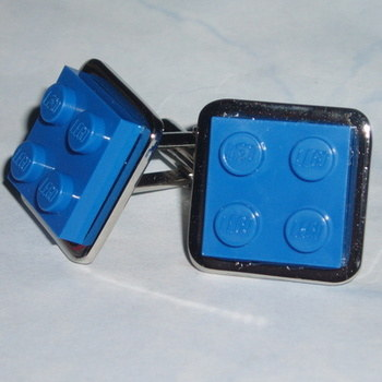 Lego Cufflinks 2x2 Plate Office Weddings Groom Swarovski