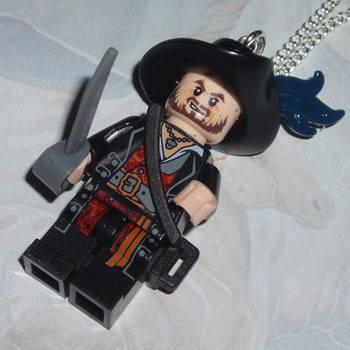 Lego MiniFigure Pendant Pirates Caribbean Hector Barbossa Sword