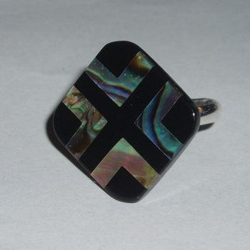 Paua Shell Ring Beautiful Stylish Striking Colours Adjustable