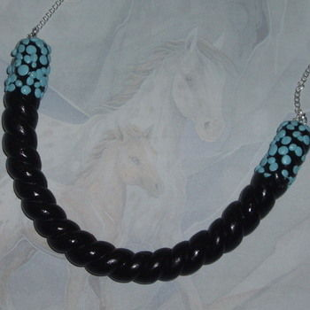 Liquorice Necklace Twisted Black Blue Sweet Candy